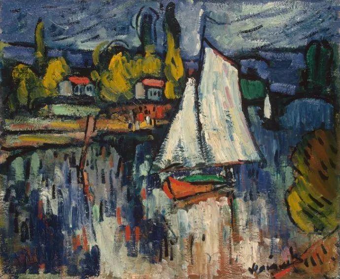 野兽派主要代表 法国画家弗拉芒克插图57