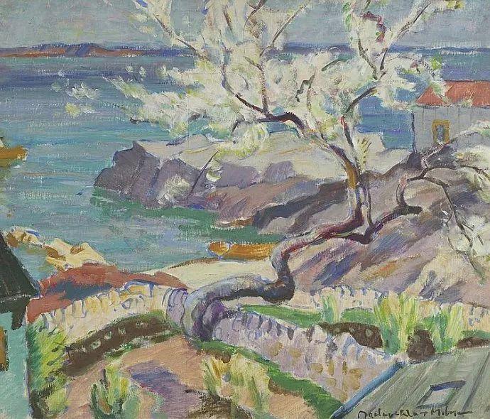 苏格兰画家John MacLauchlan Milne(1885–1957)插图45