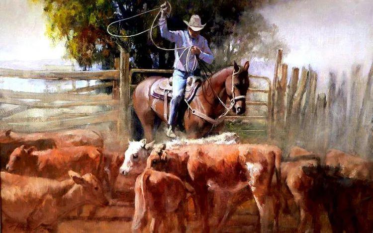 人物风景油画 美国Howard Rogers作品插图11