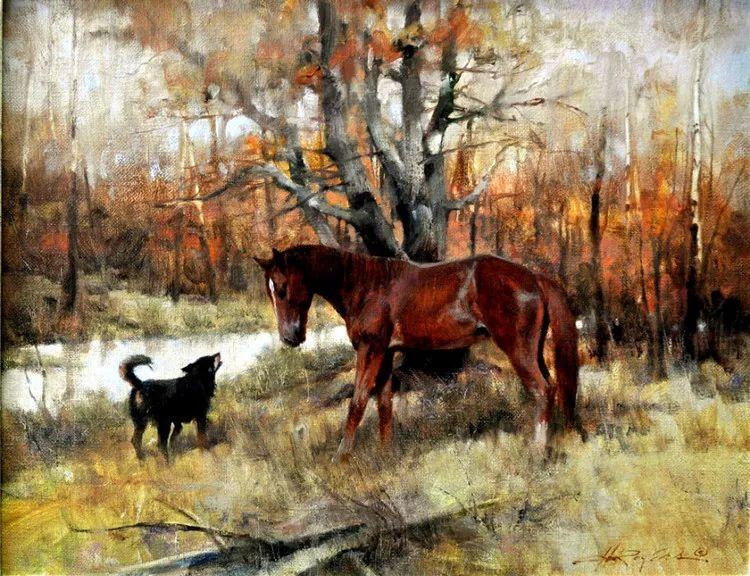 人物风景油画 美国Howard Rogers作品插图17