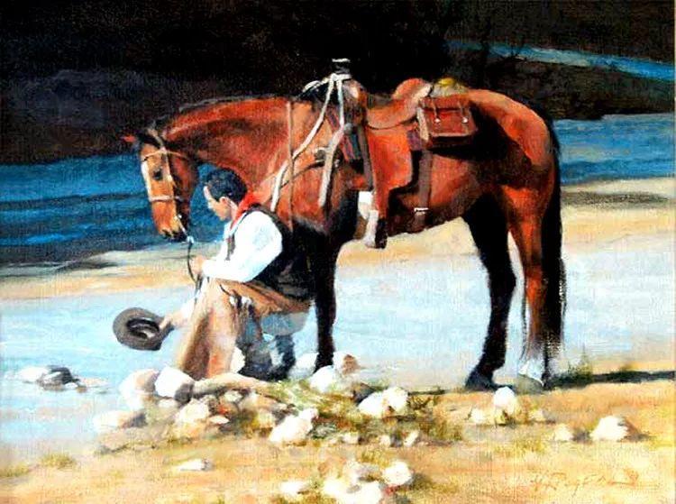 人物风景油画 美国Howard Rogers作品插图29