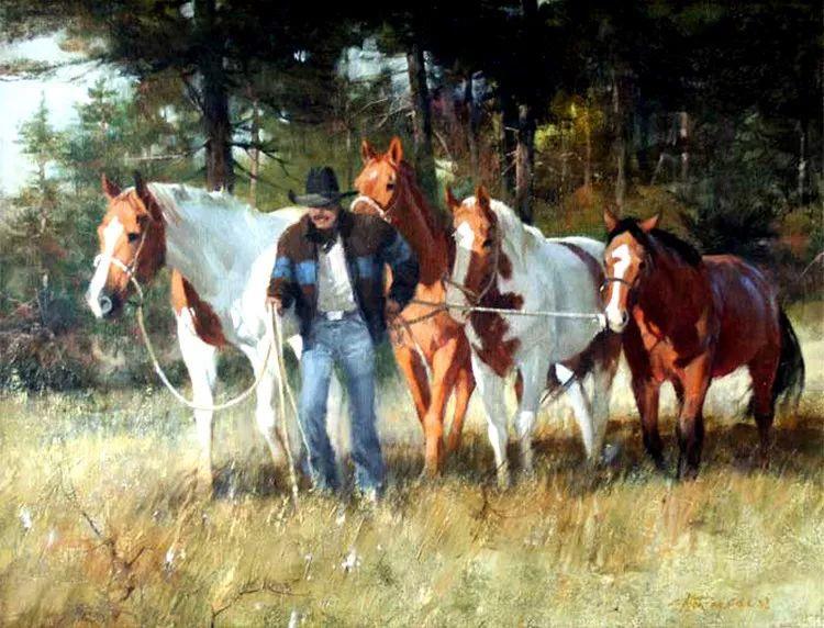 人物风景油画 美国Howard Rogers作品插图31