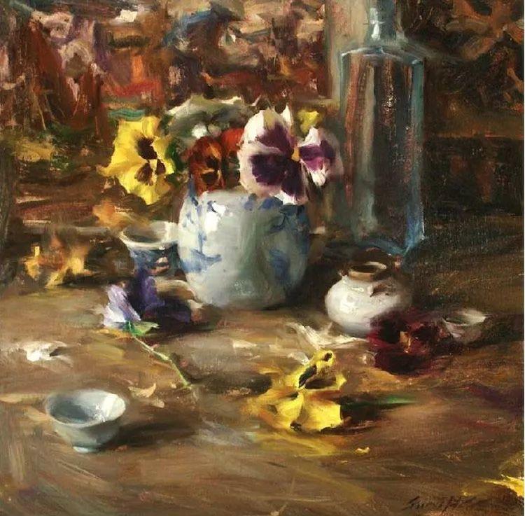 花卉静物油画 旅美越南画家Quang Ho作品插图3