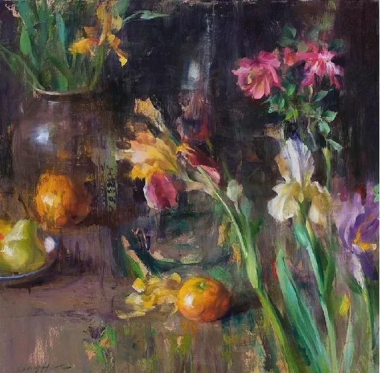 花卉静物油画 旅美越南画家Quang Ho作品插图11