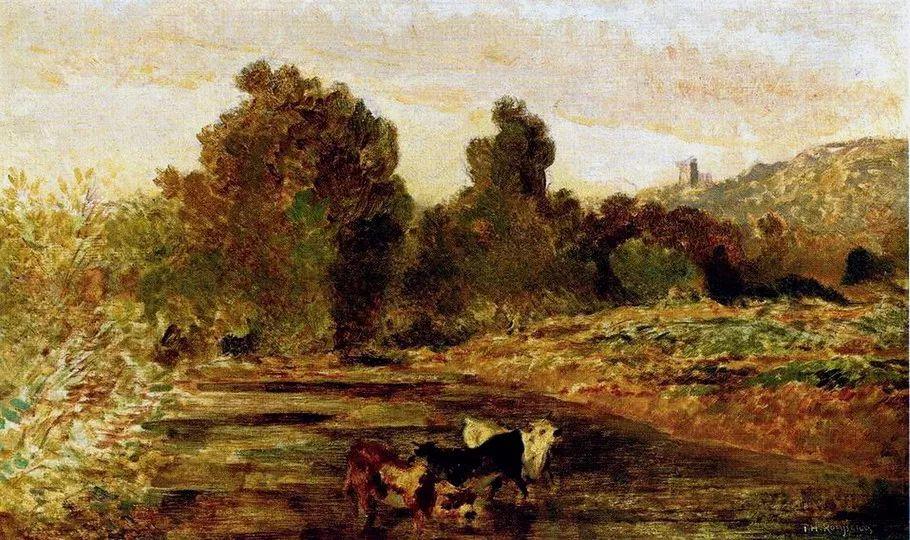 巴比松画派 法国Théodore Rousseau作品欣赏插图9