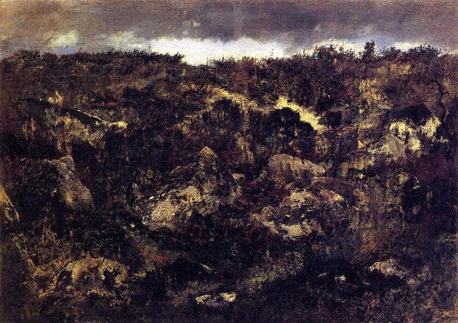 巴比松画派 法国Théodore Rousseau作品欣赏插图15