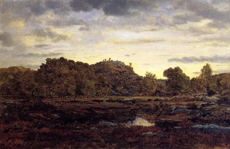 巴比松画派 法国Théodore Rousseau作品欣赏插图19