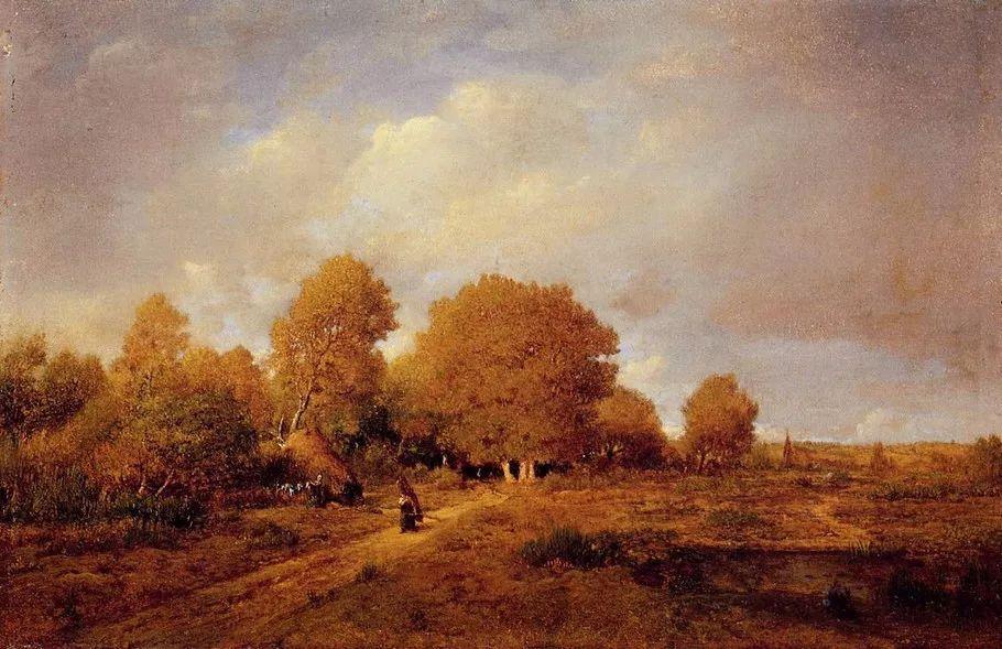 巴比松画派 法国Théodore Rousseau作品欣赏插图37