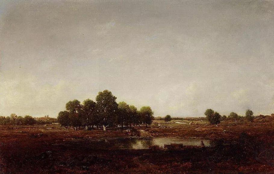 巴比松画派 法国Théodore Rousseau作品欣赏插图45