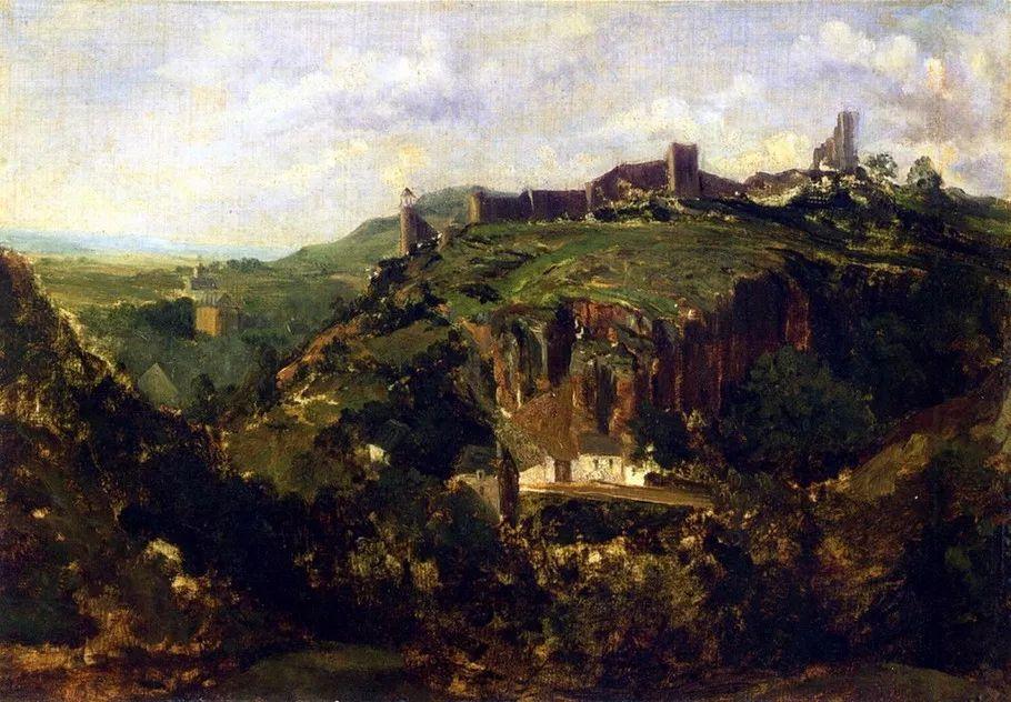巴比松画派 法国Théodore Rousseau作品欣赏插图53
