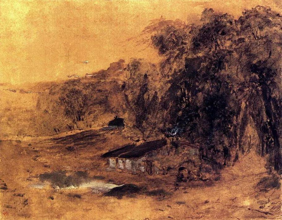 巴比松画派 法国Théodore Rousseau作品欣赏插图55