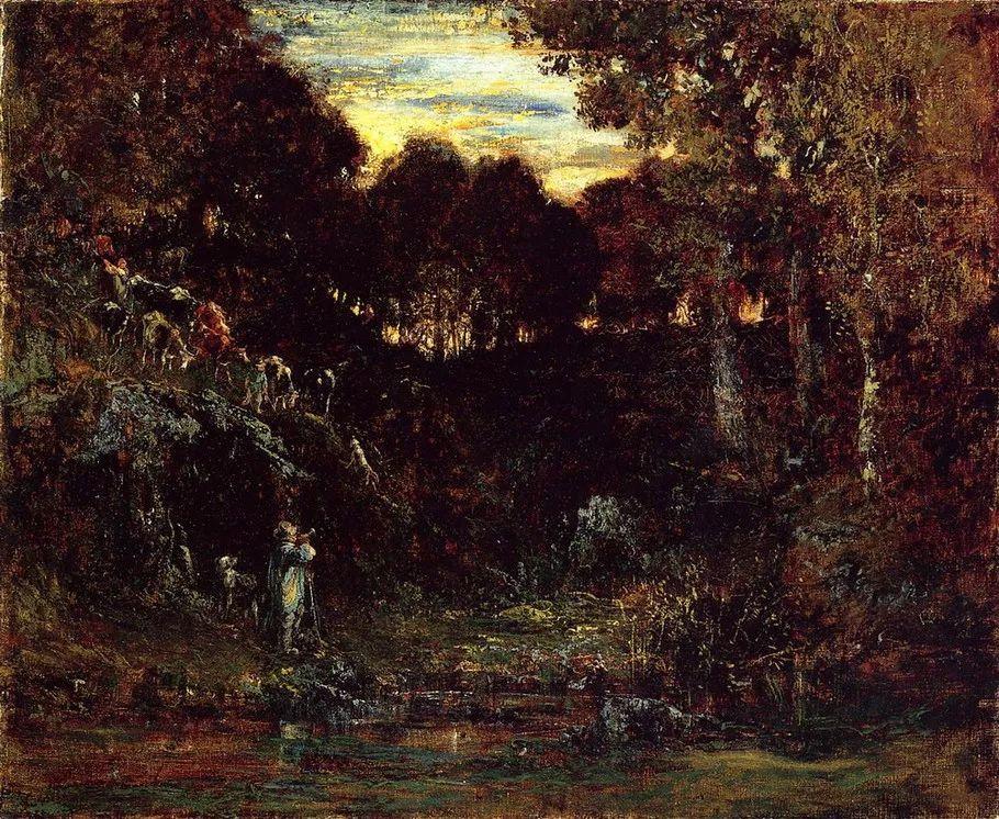 巴比松画派 法国Théodore Rousseau作品欣赏插图59