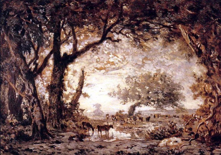 巴比松画派 法国Théodore Rousseau作品欣赏插图61