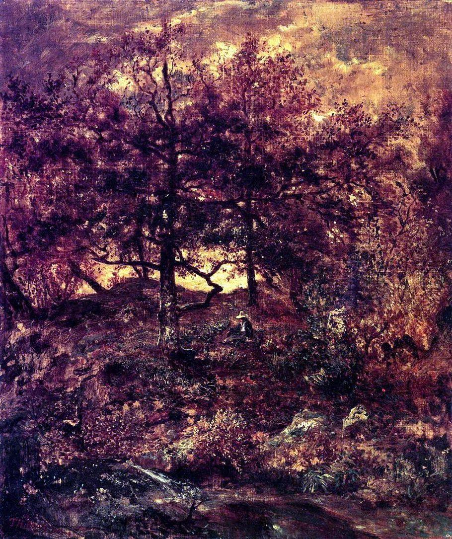 巴比松画派 法国Théodore Rousseau作品欣赏插图63
