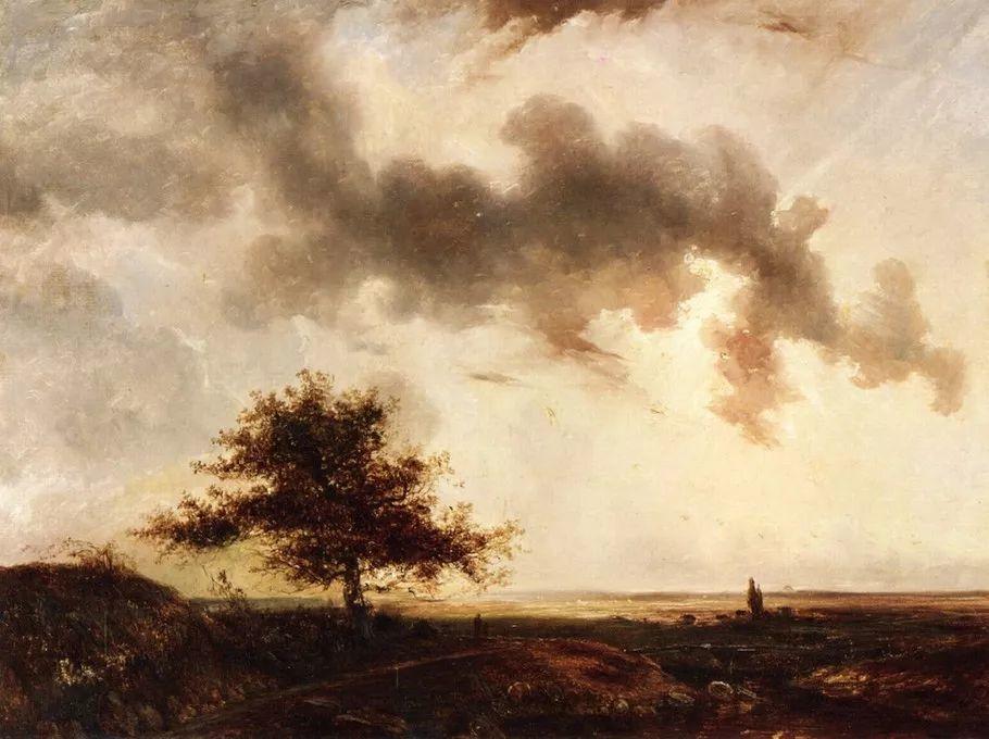 巴比松画派 法国Théodore Rousseau作品欣赏插图65