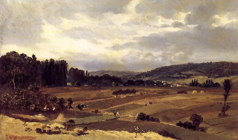 巴比松画派 法国Théodore Rousseau作品欣赏插图69