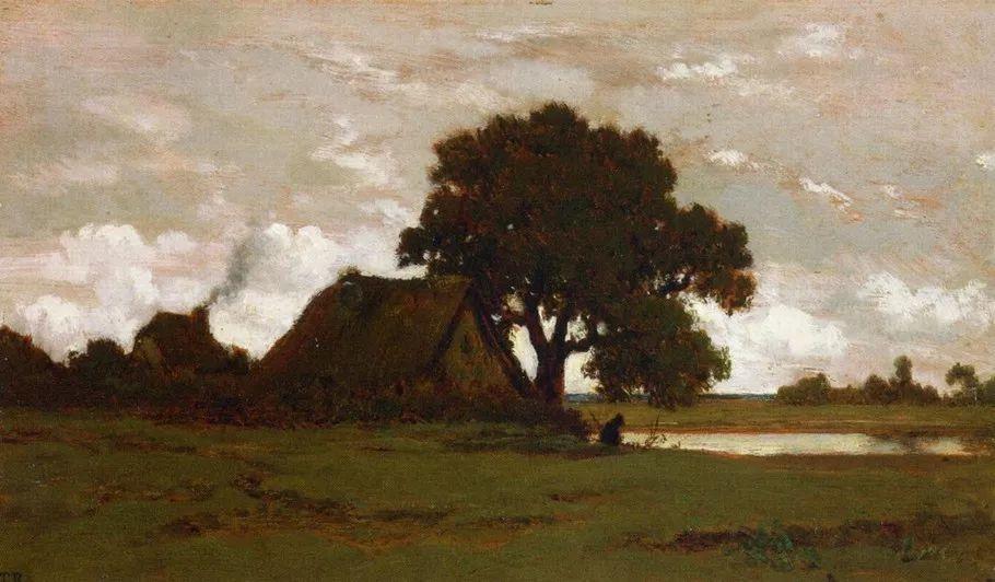 巴比松画派 法国Théodore Rousseau作品欣赏插图71