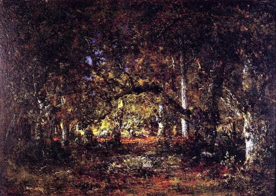巴比松画派 法国Théodore Rousseau作品欣赏插图73