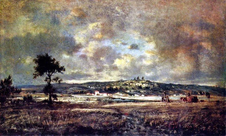 巴比松画派 法国Théodore Rousseau作品欣赏插图75