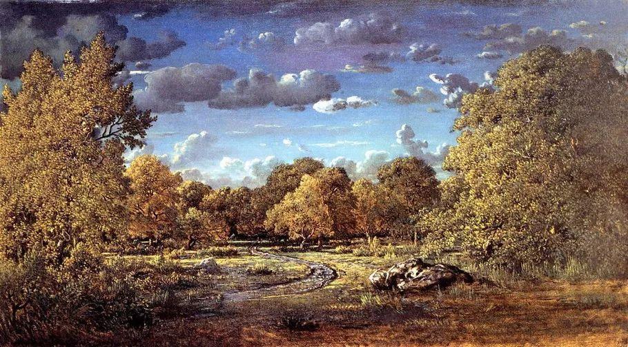 巴比松画派 法国Théodore Rousseau作品欣赏插图77