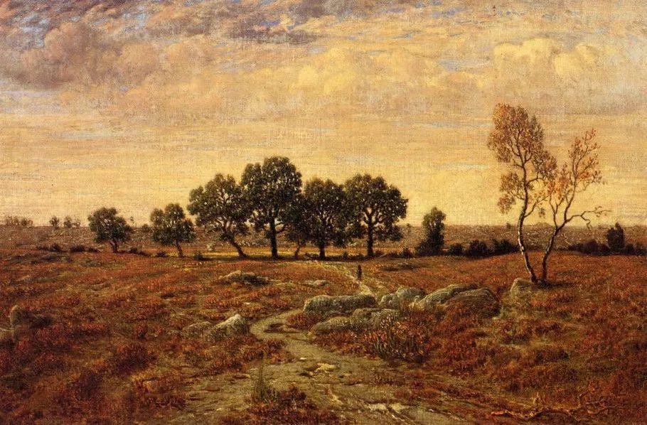 巴比松画派 法国Théodore Rousseau作品欣赏插图81