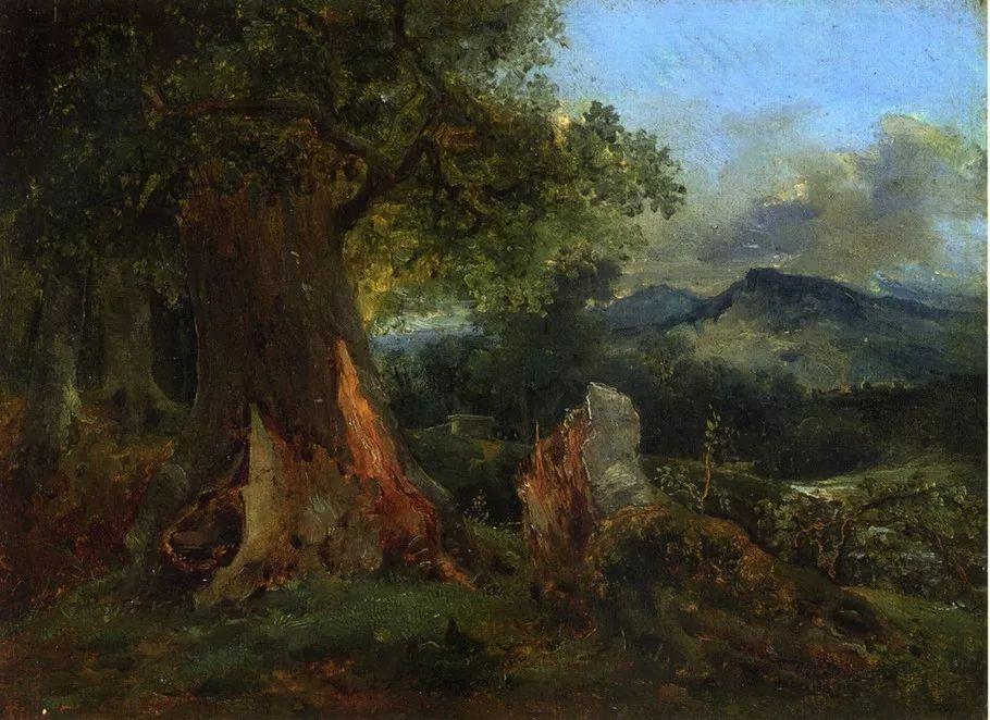 巴比松画派 法国Théodore Rousseau作品欣赏插图85