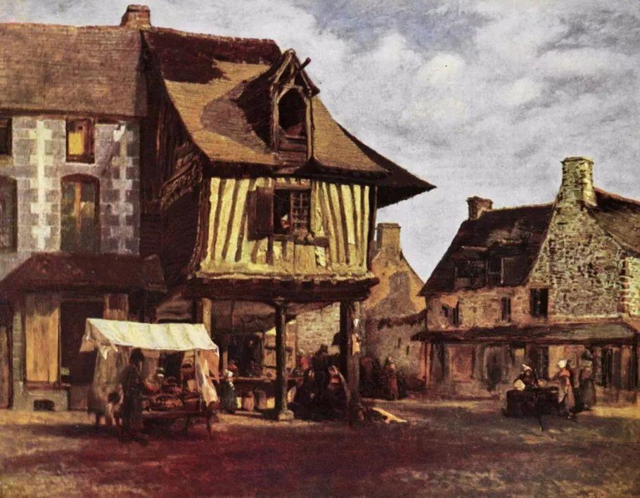 巴比松画派 法国Théodore Rousseau作品欣赏插图87