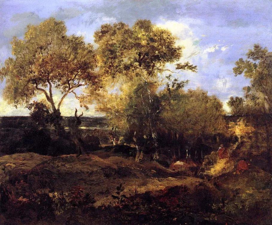 巴比松画派 法国Théodore Rousseau作品欣赏插图89