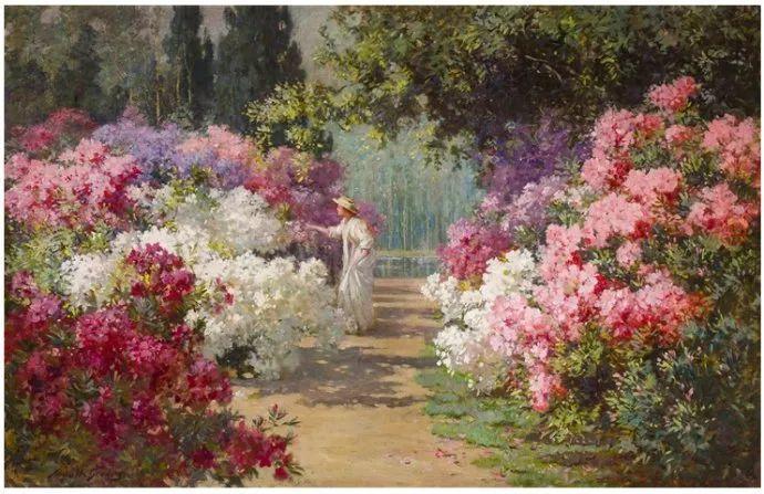 花卉风景 美国Abbott Fuller Graves(1859–1936)插图1
