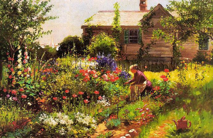 花卉风景 美国Abbott Fuller Graves(1859–1936)插图7
