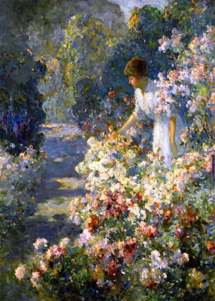 花卉风景 美国Abbott Fuller Graves(1859–1936)插图15