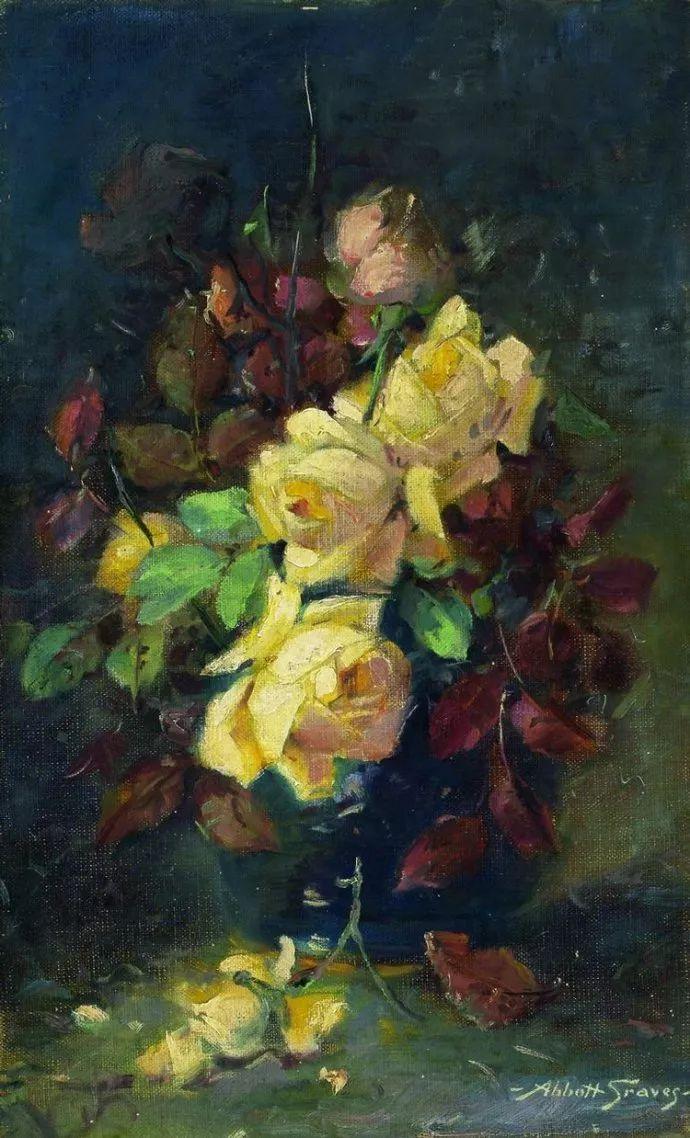 花卉风景 美国Abbott Fuller Graves(1859–1936)插图17