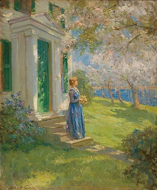 花卉风景 美国Abbott Fuller Graves(1859–1936)插图23