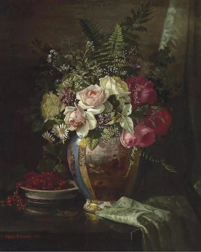 花卉风景 美国Abbott Fuller Graves(1859–1936)插图31