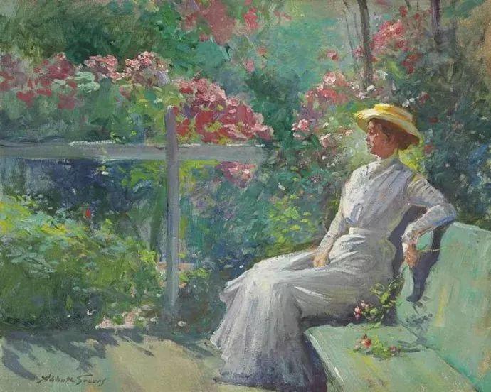 花卉风景 美国Abbott Fuller Graves(1859–1936)插图35