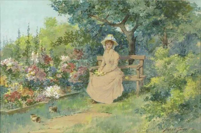 花卉风景 美国Abbott Fuller Graves(1859–1936)插图39