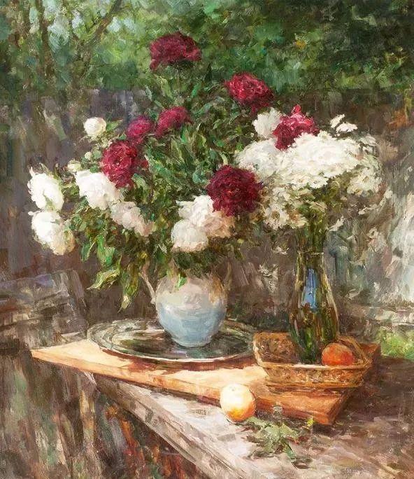 油画静物花卉 乌克兰Mikhailenko Sergey Victorovich插图1