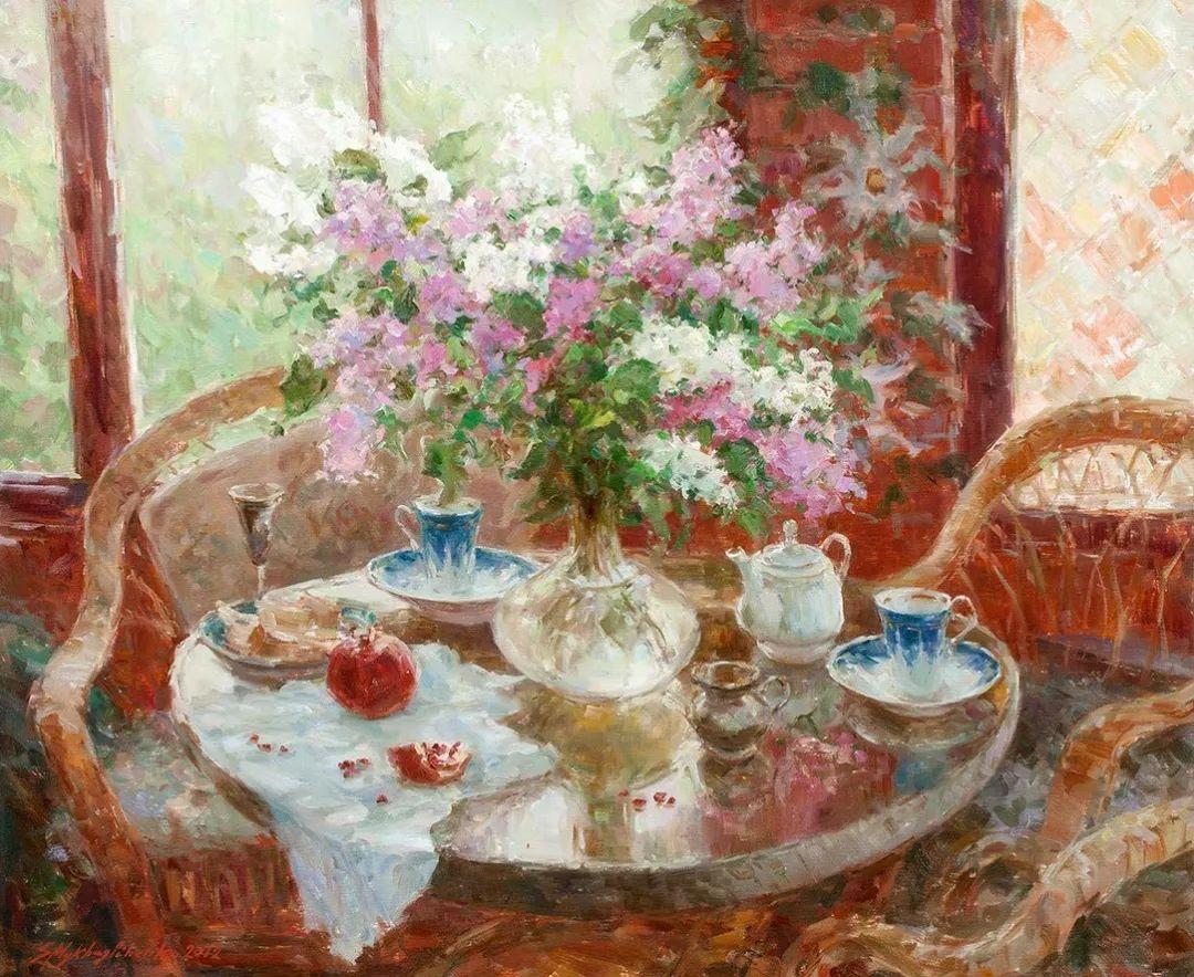 油画静物花卉 乌克兰Mikhailenko Sergey Victorovich插图3