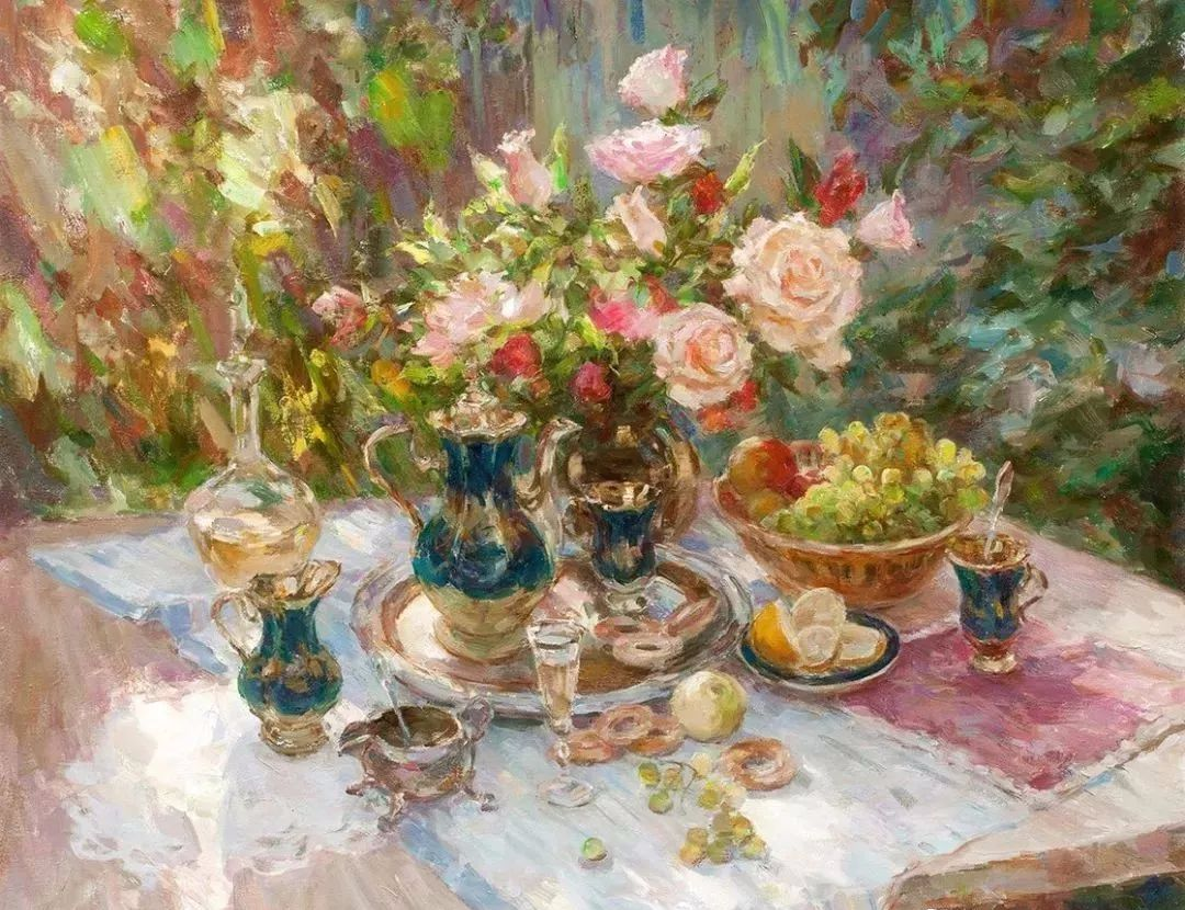 油画静物花卉 乌克兰Mikhailenko Sergey Victorovich插图7