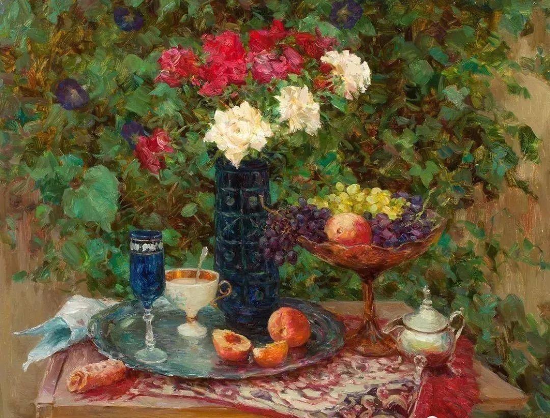 油画静物花卉 乌克兰Mikhailenko Sergey Victorovich插图9