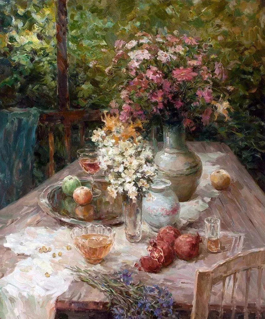 油画静物花卉 乌克兰Mikhailenko Sergey Victorovich插图21