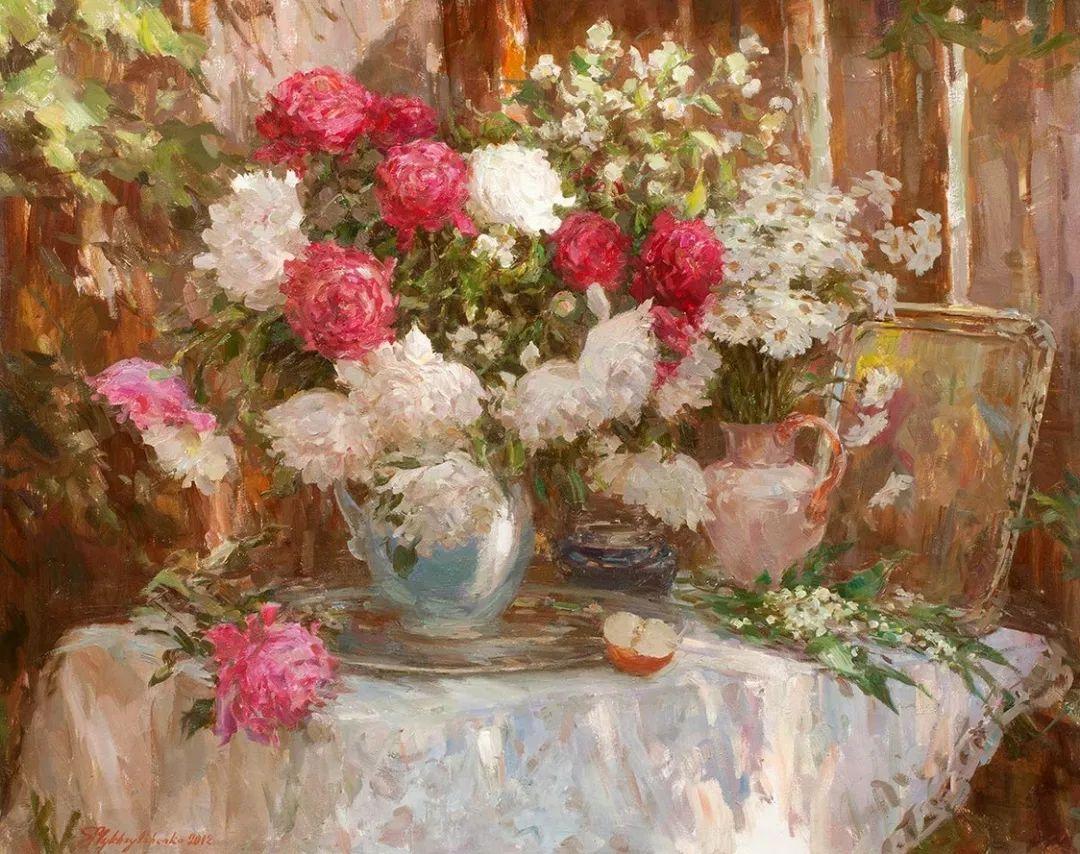 油画静物花卉 乌克兰Mikhailenko Sergey Victorovich插图27