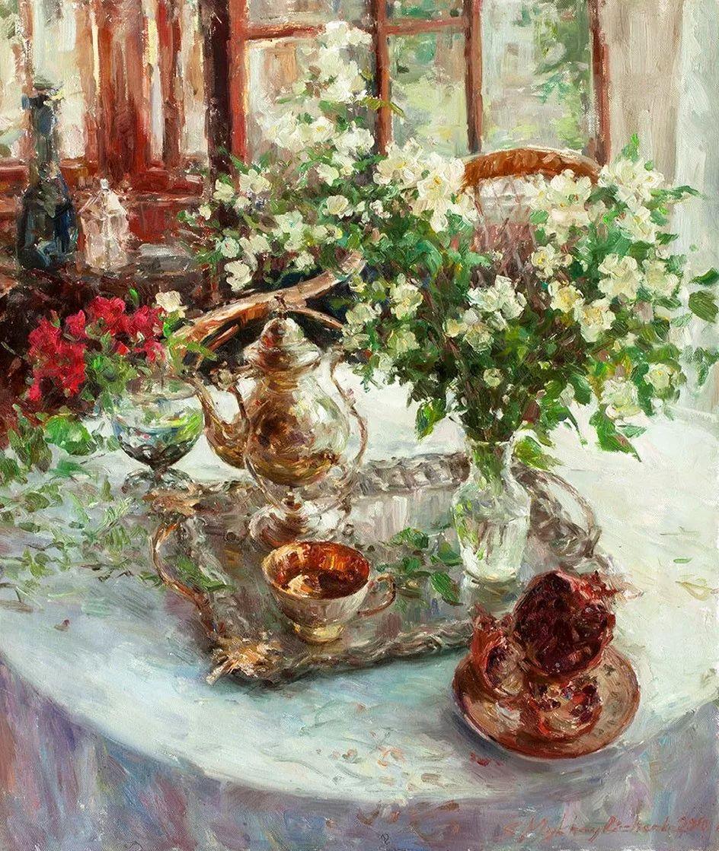 油画静物花卉 乌克兰Mikhailenko Sergey Victorovich插图37