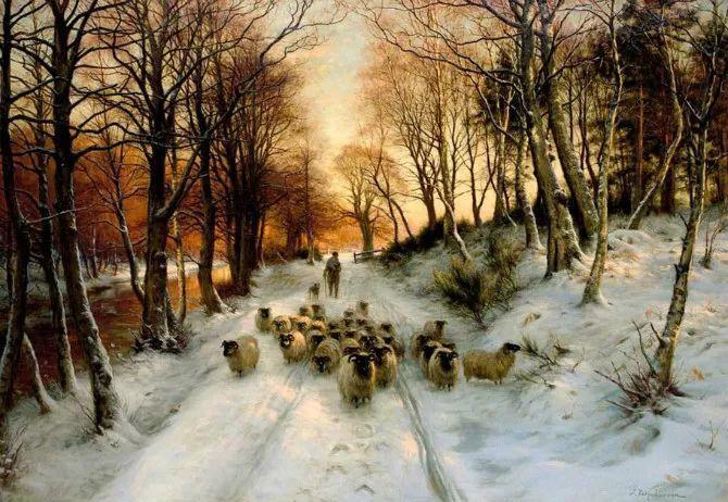 牧羊系列油画 苏格兰Joseph Farquharson作品插图1