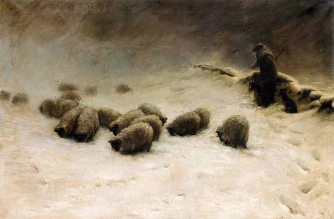 牧羊系列油画 苏格兰Joseph Farquharson作品插图3