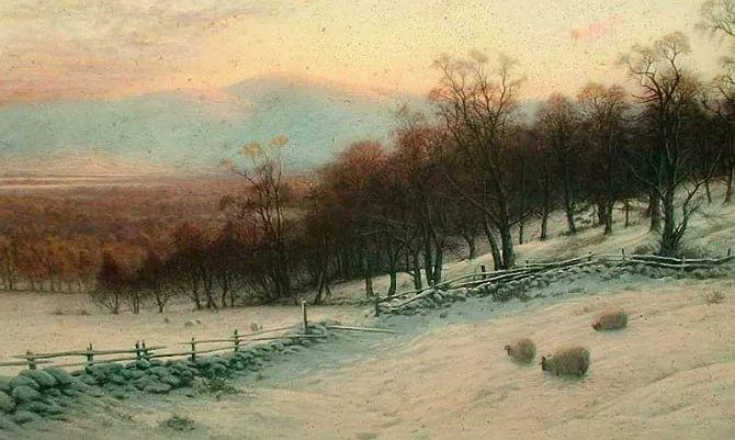 牧羊系列油画 苏格兰Joseph Farquharson作品插图11