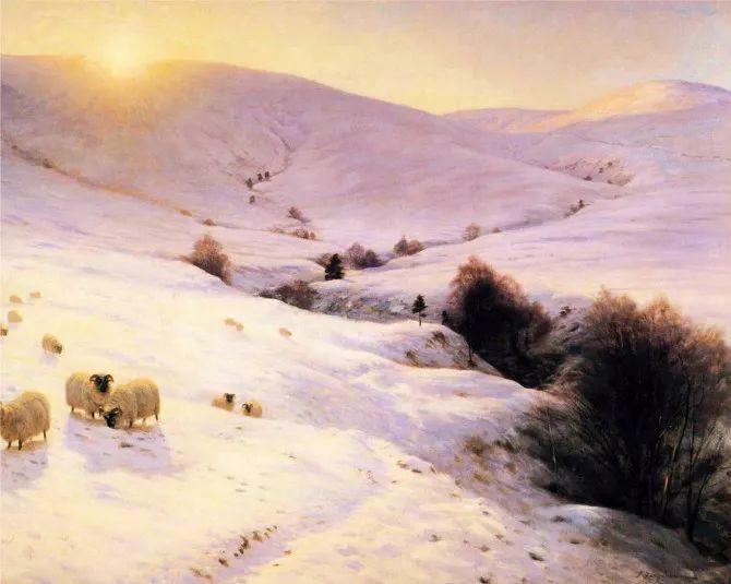 牧羊系列油画 苏格兰Joseph Farquharson作品插图13