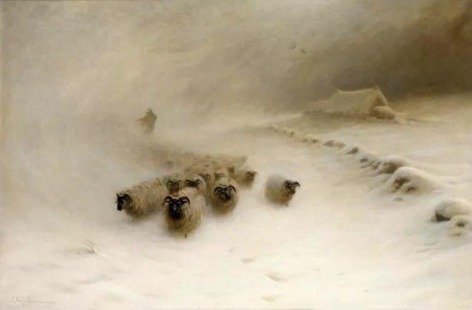 牧羊系列油画 苏格兰Joseph Farquharson作品插图15