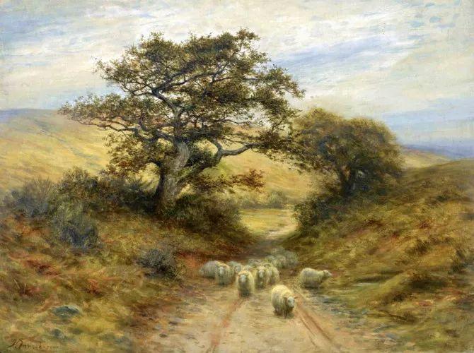 牧羊系列油画 苏格兰Joseph Farquharson作品插图17