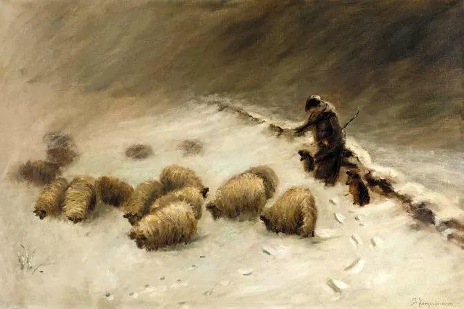 牧羊系列油画 苏格兰Joseph Farquharson作品插图19